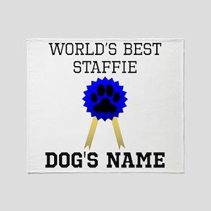 Worlds Best Staffie (Custom) Throw Blanket