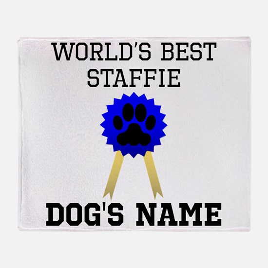 Worlds Best Staffie (Custom) Throw Blanket