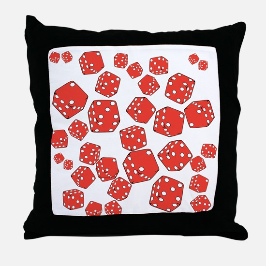 Roll the dice Throw Pillow