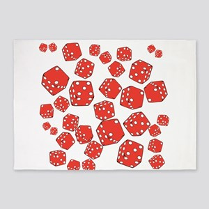 Roll the dice 5'x7'Area Rug