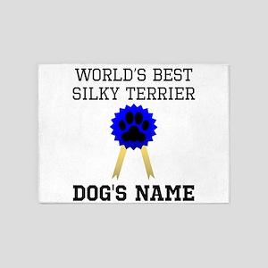 Worlds Best Silky Terrier (Custom) 5'x7'Area Rug