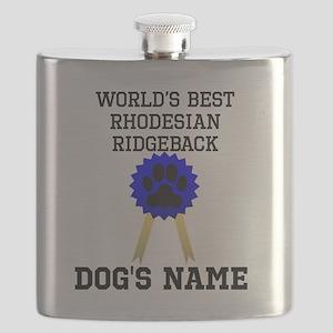 Worlds Best Rhodesian Ridgeback (Custom) Flask