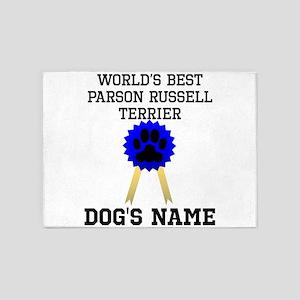 Worlds Best Parson Russell Terrier (Custom) 5'x7'A