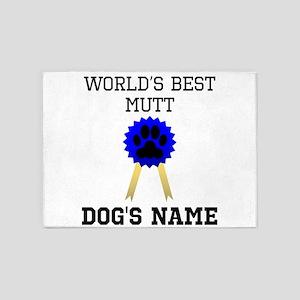 Worlds Best Mutt (Custom) 5'x7'Area Rug