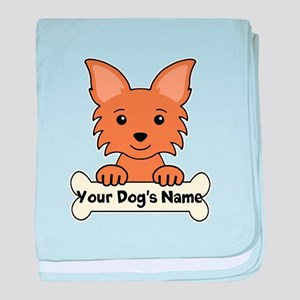 Personalized Chihuahua baby blanket
