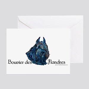 Bouvier des Flanders too Greeting Cards (Package o