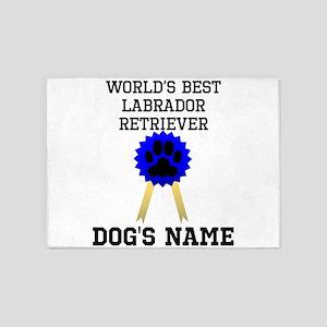 Worlds Best Labrador Retriever (Custom) 5'x7'Area
