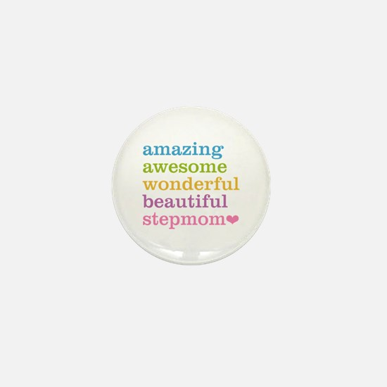 Amazing Stepmom Mini Button