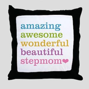 Amazing Stepmom Throw Pillow