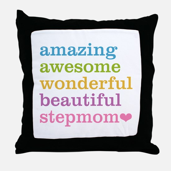 Amazing Stepmom Throw Pillow