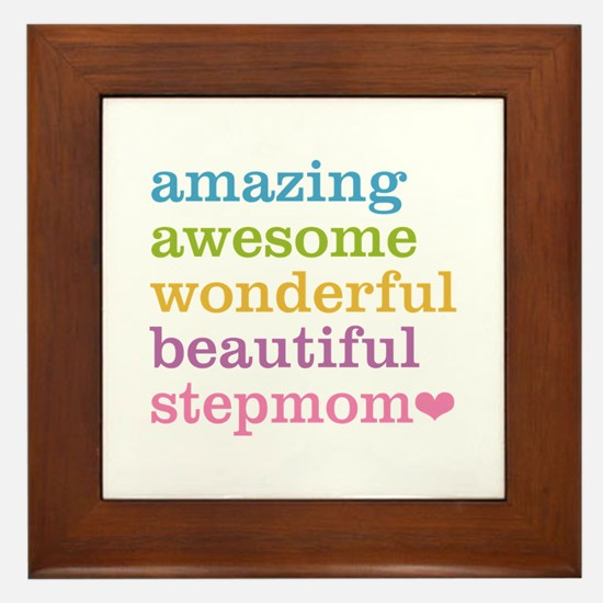 Amazing Stepmom Framed Tile