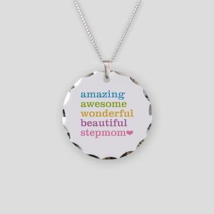 Amazing Stepmom Necklace Circle Charm
