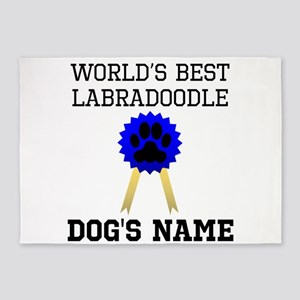 Worlds Best Labradoodle (Custom) 5'x7'Area Rug