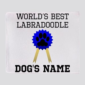 Worlds Best Labradoodle (Custom) Throw Blanket