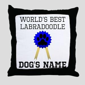 Worlds Best Labradoodle (Custom) Throw Pillow