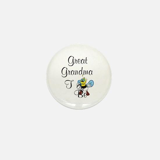 Playful Great Grandma To Bee Mini Button