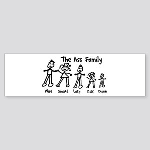 Ass Family Bumper Sticker