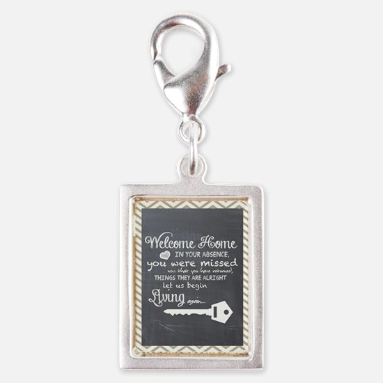 Welcome Home Silver Portrait Charm