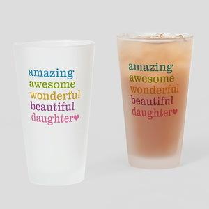 Amazing Daughter Drinking Glass
