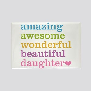 Amazing Daughter Rectangle Magnet