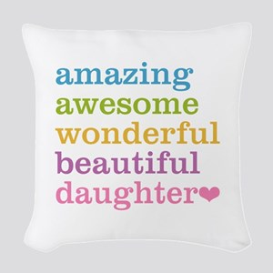 Amazing Daughter Woven Throw Pillow