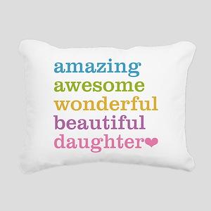 Amazing Daughter Rectangular Canvas Pillow
