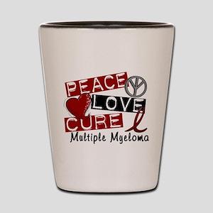 Multiple Myeloma Peace Love Cure 1 Shot Glass