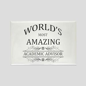 World's Most Amazing Academic Adv Rectangle Magnet
