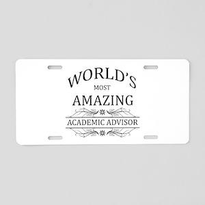 World's Most Amazing Academ Aluminum License Plate