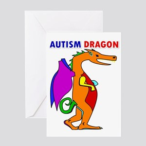AUTISM DRAGON Greeting Card