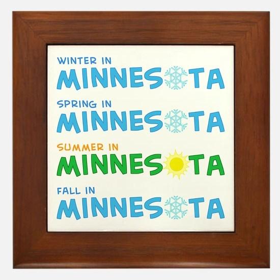 Minnesota Seasons Framed Tile