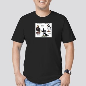 Puffins of the World Men's Fitted T-Shirt (dark)