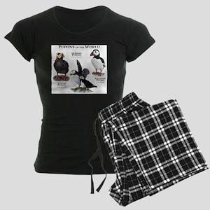 Puffins of the World Women's Dark Pajamas