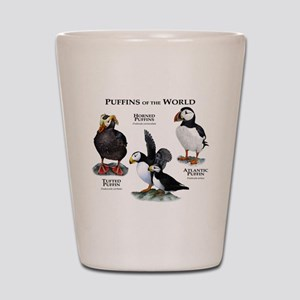 Puffins of the World Shot Glass