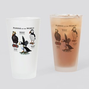 Puffins of the World Drinking Glass