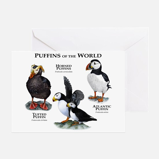 Puffins of the World Greeting Card