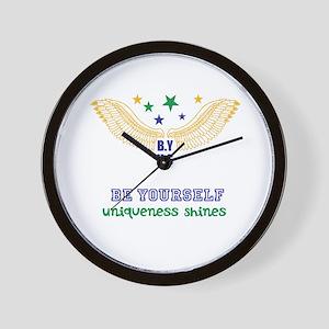 B.Y-U.S Wall Clock