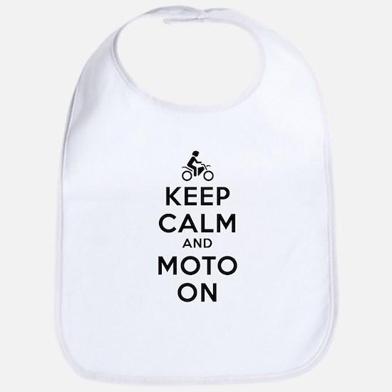 Keep Calm Moto On Bib