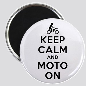 Keep Calm Moto On Magnet