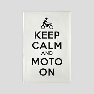 Keep Calm Moto On Rectangle Magnet