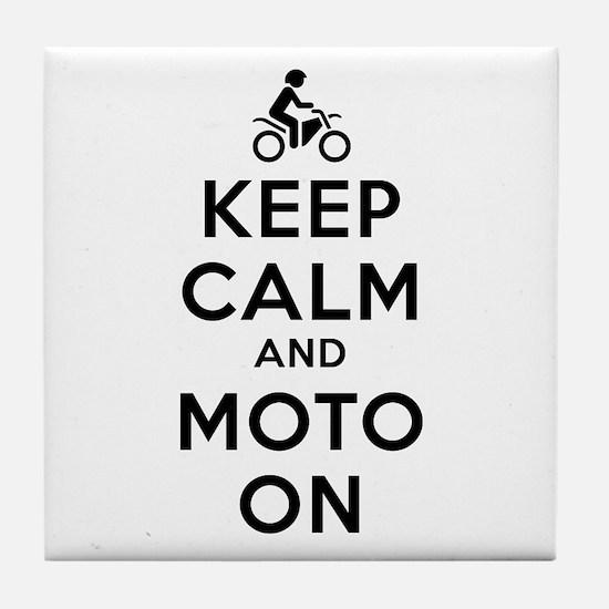 Keep Calm Moto On Tile Coaster