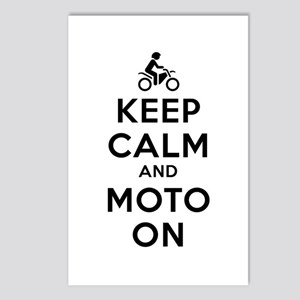 Keep Calm Moto On Postcards (Package of 8)