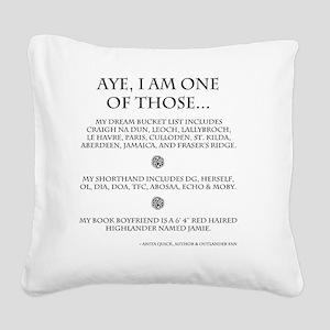 Call Me Sassanach Square Canvas Pillow