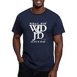 Jesus-Wdjd Men's Fitted T-Shirt (dark)