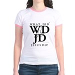 Jesus-WDJD Jr. Ringer T-Shirt