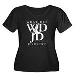 Jesus-WD Women's Plus Size Scoop Neck Dark T-Shirt