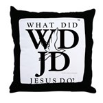 Jesus-WDJD Throw Pillow