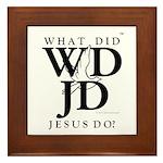 Jesus-WDJD Framed Tile