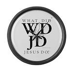 Jesus-WDJD Large Wall Clock