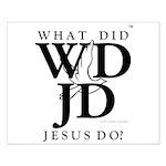 Jesus-WDJD Small Poster